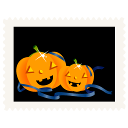 Stamp pumpkins icon