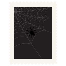 Stamp spider icon
