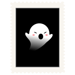 Stamp spooky icon