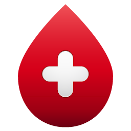 Blood drop no shadow icon