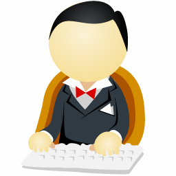 Man Black Icon | Office Men Iconset | DaPino