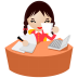 Eyes-office-women-yellow icon