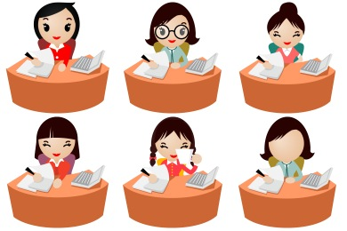 Office Women Icons