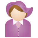 miss purple hat icon