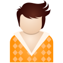 Orange boy icon