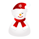 Sleepy snowman icon