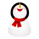 smiling snowman icon
