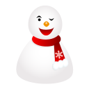 wink snowman icon