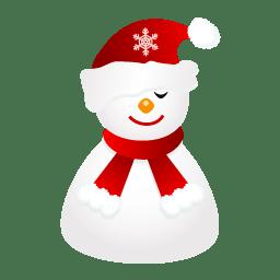 Sleepy snowman icon
