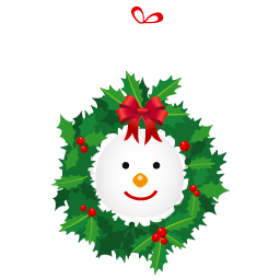 snowman wreath icon