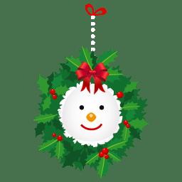 Snowman wreath icon