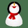 Smiling-snowman icon