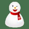 Wink-snowman icon