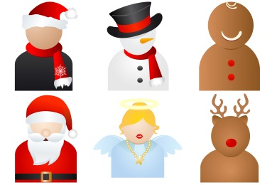 Christmas People Icons