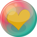 Heart orange 2 icon
