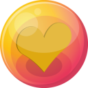 Heart orange 4 icon