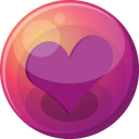Heart-purple-1 icon