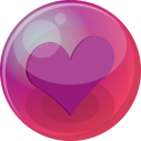 Heart purple 6 icon