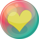 Heart yellow 2 icon