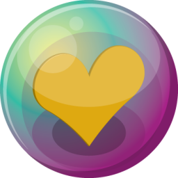 heart orange 3 icon