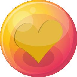 Heart orange 4 icon