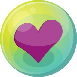 Heart purple 5 icon