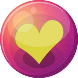 Heart yellow 1 icon