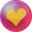 Heart orange 6 icon