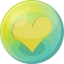 heart yellow 5 icon