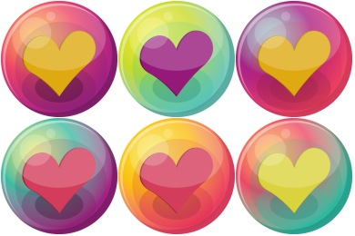 Heart Bubble Icons