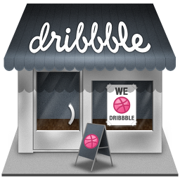 dribbble shop icon