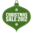 Christmas sale 2012 green icon
