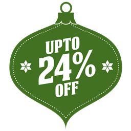 Upto 24 percent off icon