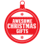 Awesome christmas gifts icon