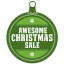 Awesome christmas sale icon