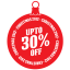 Upto 30 percent off icon