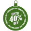 upto 40 percent off icon