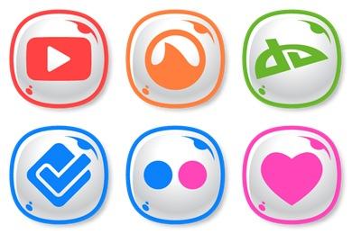 Cute Social Icons