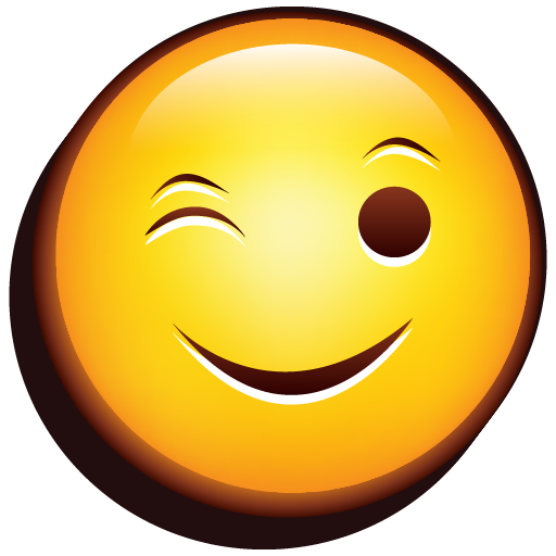 Emoji Wink Icon | Emoji Iconset | DesignBolts