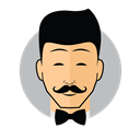 Male Avatar Bow Tie icon
