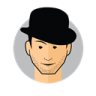 Male-Avatar-Bowler-Hat icon