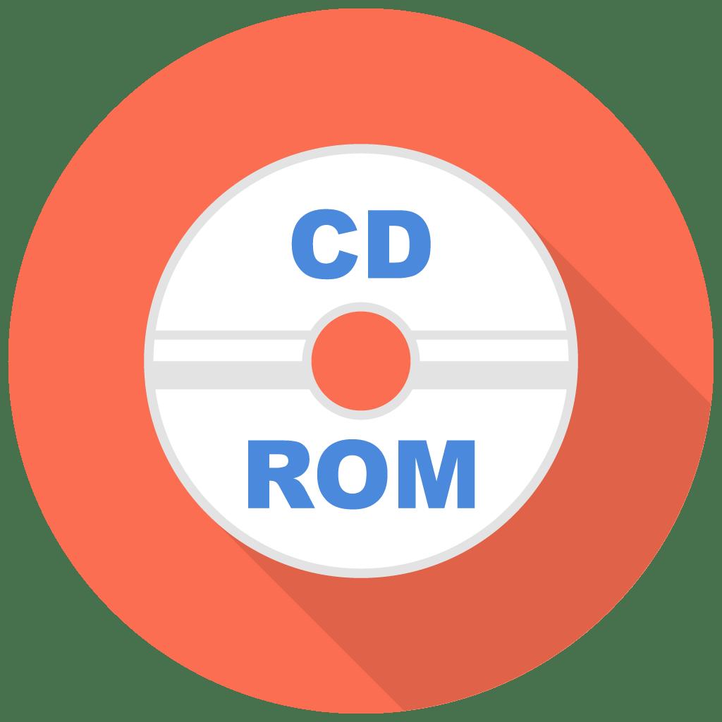 Cd Rom Icon Free Flat Multimedia Iconset Designbolts