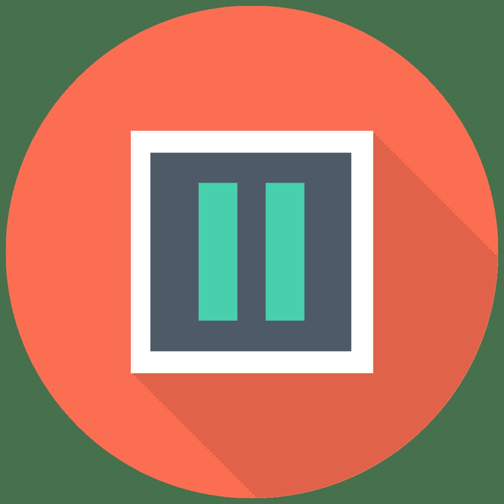 Pause Icon | Free Flat Multimedia Iconset | DesignBolts