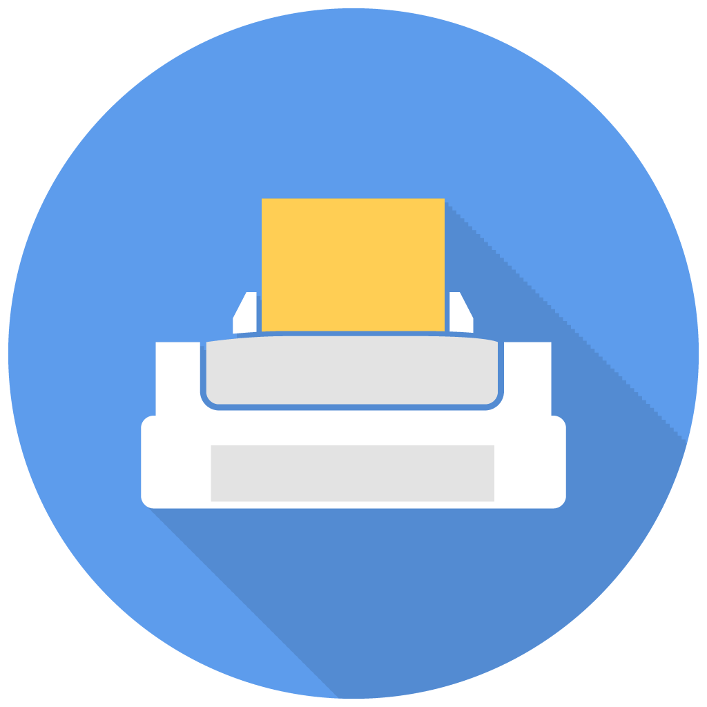 Printer Icon | Free Flat Multimedia Iconset | DesignBolts