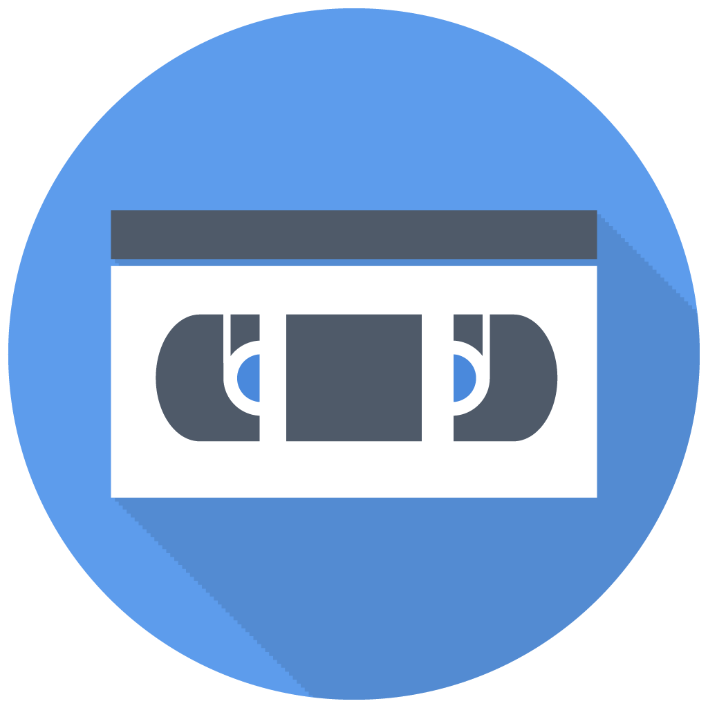 vhs icon free flat multimedia iconset designbolts
