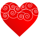 Heart Round Pattern icon