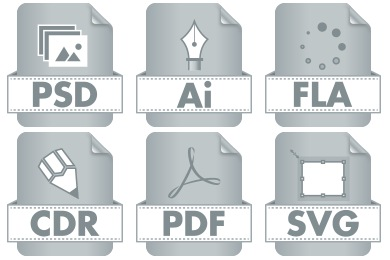 Graphic File Type Icons