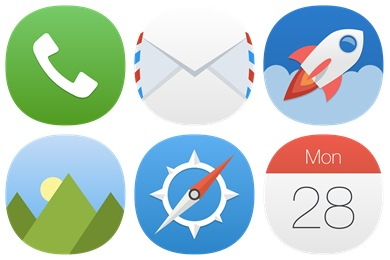 iOS8 Cirtangle Concept Icons