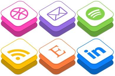 iOS8 Style Social Icons