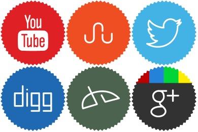 Minimalist Social Icons